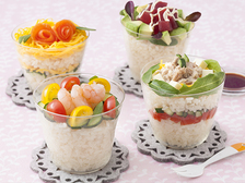 たっぷり野菜のサラダカップ寿司
