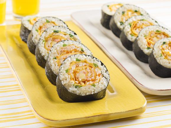 生茶の花巻き寿司