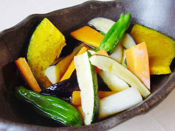 夏野菜の揚げ煮浸し