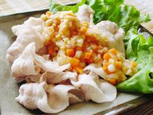 納豆豚しゃぶソース
