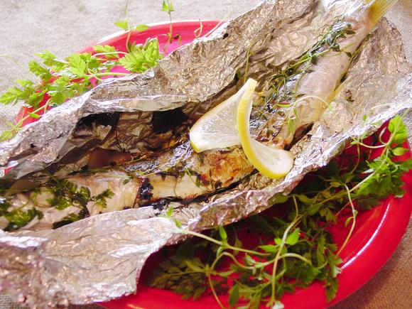 魚の香草ホイル焼き