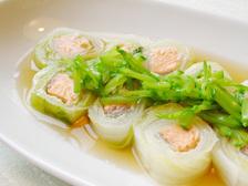 白菜のサーモンロール