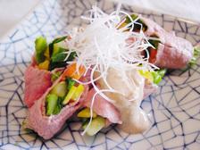 牛しゃぶのサラダ仕立て~ごまと豆腐のソース~