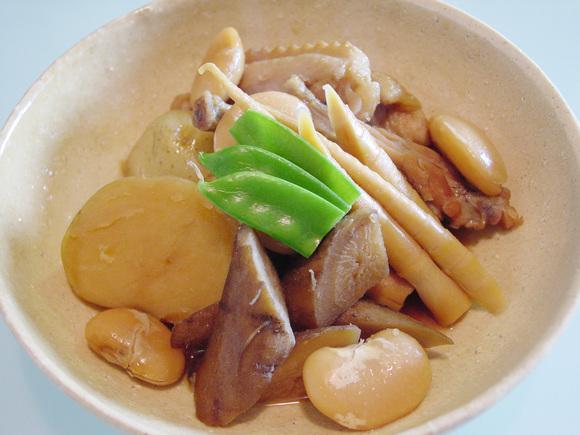 旬野菜と白いんげん豆の煮物