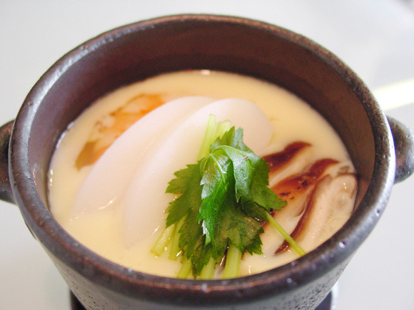 Steamed egg custard