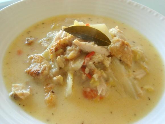 手羽先と白菜のクリームスープ