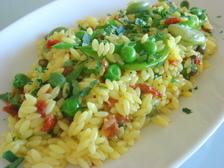 パスタと春野菜のサラダ~サフラン風味~