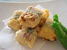 うなぎと湯葉の天ぷら