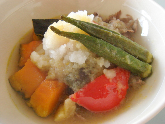 牛肉と夏野菜のおろし煮