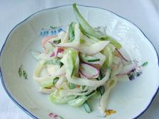 カニかまの3色サラダ