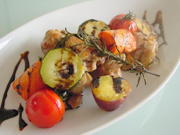鶏肉と野菜のロースト