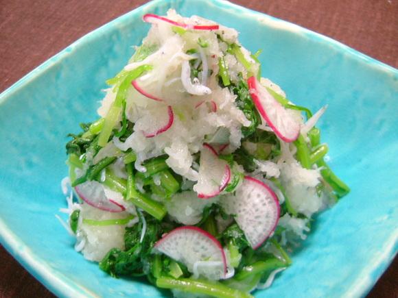 季節野菜のオリーブオイルおろし和え