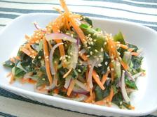 わかめとシャキシャキ野菜のサラダ