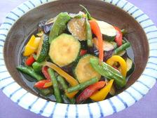 夏野菜の揚げびたし
