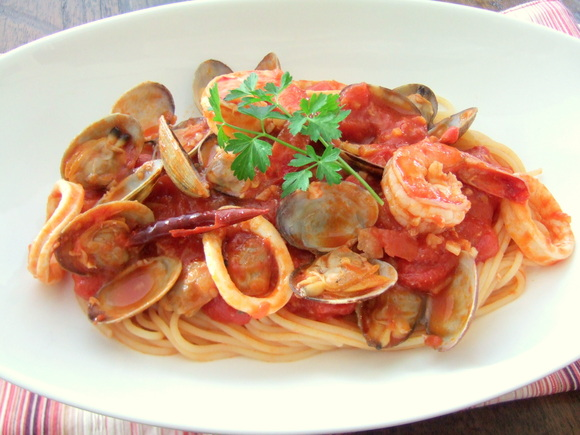 美味しそうなペスカトーレパスタ・スパゲッティー