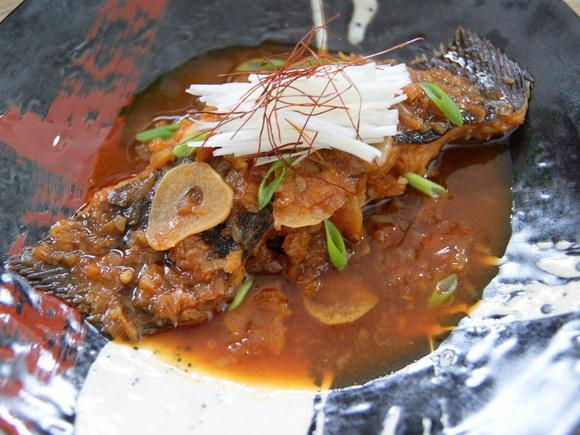 かれいの韓国風煮