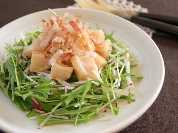 ほたてと水菜のごま酢サラダ
