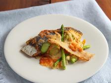 鰆と野菜のチーズ焼き