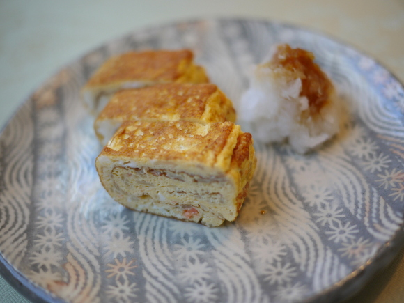 えのき茸と鮭フレークの厚焼き玉子