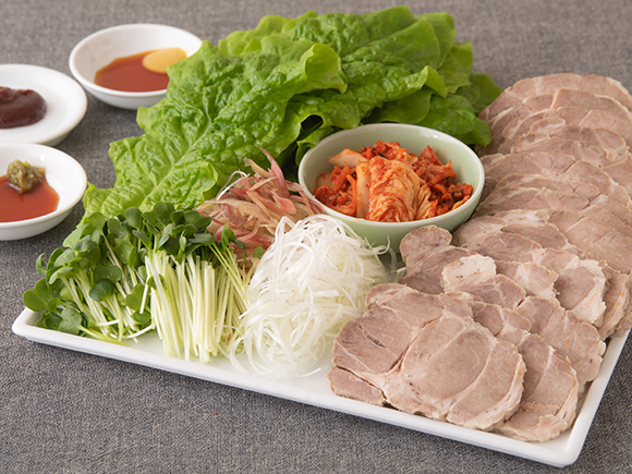 ゆで豚の手巻きサラダ