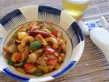 鶏肉の八宝味噌炒め