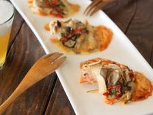 鮭ときのこのピザ風オーブン焼き