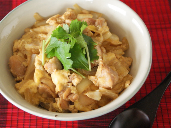 Oyako-don (Chicken and egg on rice)