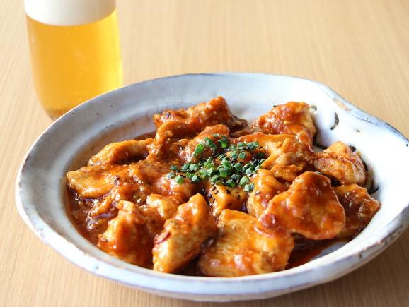 鶏むね肉の山椒チリソース煮