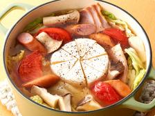 白菜とベーコンのカマンベールチーズ鍋