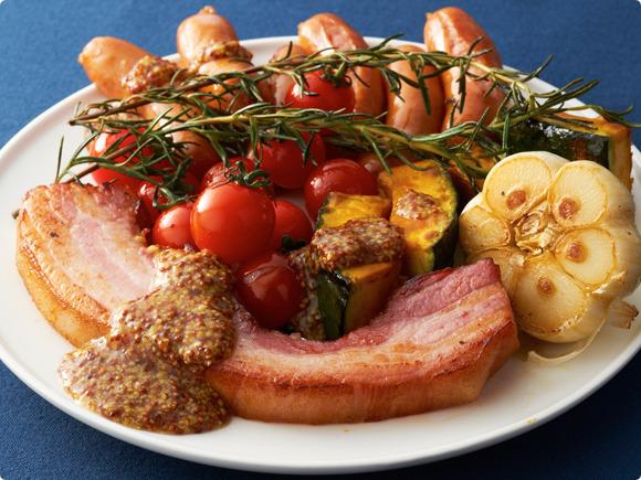 ベーコンと野菜のグリル ハニーマスタード添え