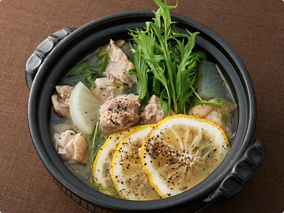 輪切りゆずの鶏塩鍋