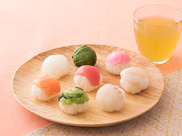 彩り手まり寿司