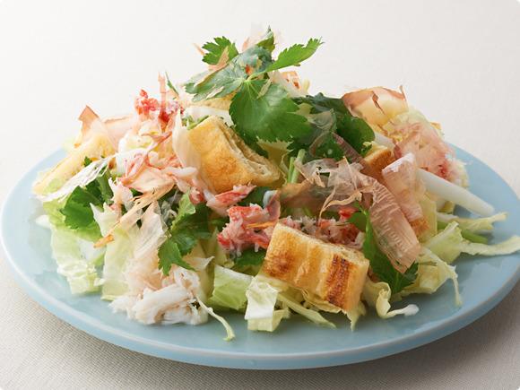 白菜とかにのサラダ