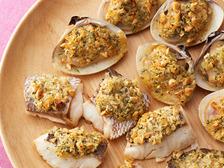 鯛とはまぐりの大葉バターグリル