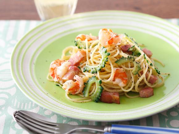夏においしい ゴーヤとベーコンのペペロンチーノ|キリンレシピ